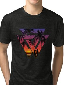 surfing with cool shape Tri-blend T-Shirt