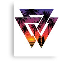 surfing with cool shape Canvas Print