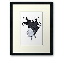 Demons in my head Framed Print