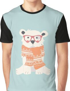 Hipster polar bear in the forest Graphic T-Shirt