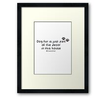 Dog fur Framed Print