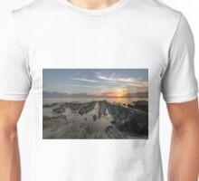 Sun setting over the ocean Unisex T-Shirt