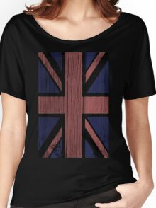 Union Jack Painted on Wood Women's Relaxed Fit T-Shirt