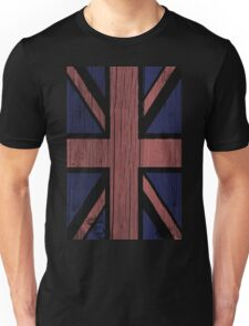 Union Jack Painted on Wood Unisex T-Shirt