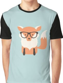 Hipster fox in the forest Graphic T-Shirt