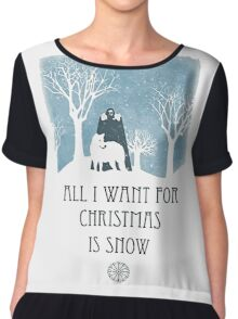 All I Want For Christmas Is Snow Game Shirt Chiffon Top
