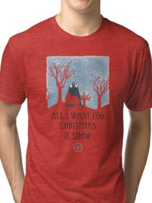 All I Want For Christmas Is Snow Game Shirt Tri-blend T-Shirt