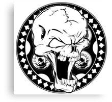 Skull Revolver Canvas Print