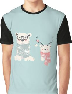 Hipster polar bears in a forest Graphic T-Shirt