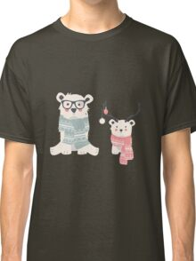 Hipster polar bears in a forest Classic T-Shirt