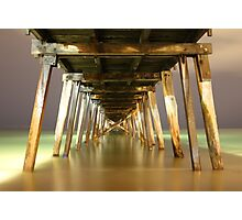 Grange Jetty : A view after dark Photographic Print