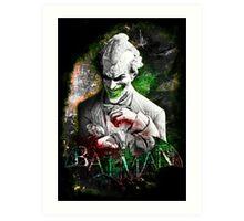 Batman Arkham City Joker Art Print