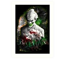 Batman Arkham City Joker Art Print