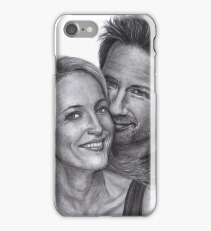 Gillian Anderson and David Duchovny iPhone Case/Skin