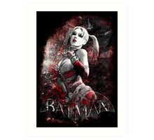 Batman Arkham City Harleyquinn Art Print