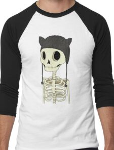 Skeleton Kitty Men's Baseball ¾ T-Shirt