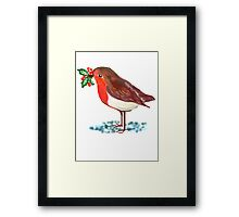 ROBIN HOLLY GRAPHIC  Framed Print