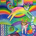 Rainbow city by Karin Zeller