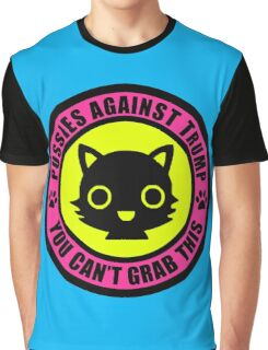 Pussies Against Trump Meow Graphic T-Shirt