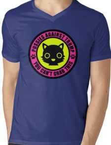 Pussies Against Trump Meow Mens V-Neck T-Shirt