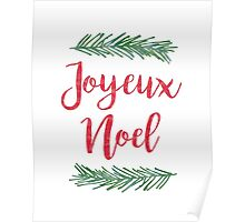 French Joyeux Noel Christmas Quote Poster