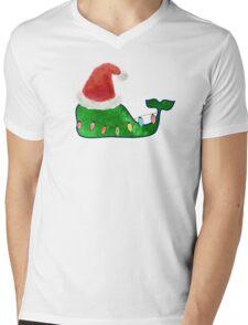 Preppy Christmas Whale Mens V-Neck T-Shirt