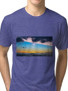 Sunset from the sea Tri-blend T-Shirt