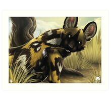 The Painted Dog Art Print