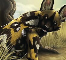 The Painted Dog by LilHoneyPup