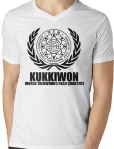 Kukkiwon world taekwondo head quarters  martial arts korean black Mens V-Neck T-Shirt