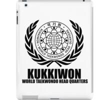 Kukkiwon world taekwondo head quarters  martial arts korean black iPad Case/Skin