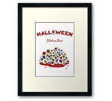 Halloween Trick or Treat Eyeballs Framed Print