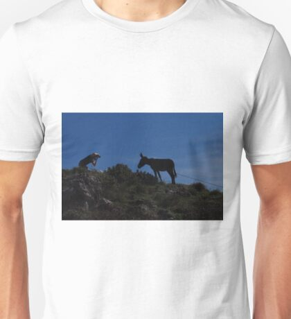 Photographer and Donkey Unisex T-Shirt