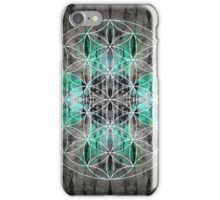flower of life teal grey iPhone Case/Skin