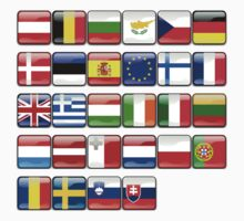 European Flags, EU, Europe One Piece - Long Sleeve