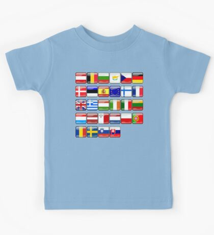 European Flags, EU, Europe Kids Tee