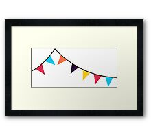 Bunting, Flags, Party, Celebration Framed Print