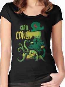Cap'n Cthulhu Women's Fitted Scoop T-Shirt