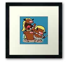 You came to the wrong island! Framed Print