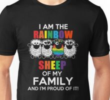 I am the rainbow sheep of my family and i'm proud of it Tshirt Unisex T-Shirt