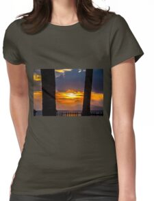Tropical sunset, Indonesia Womens Fitted T-Shirt