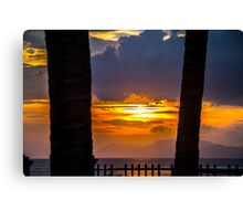 Tropical sunset, Indonesia Canvas Print