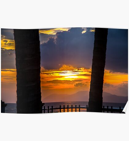 Tropical sunset, Indonesia Poster