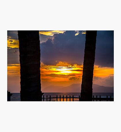 Tropical sunset, Indonesia Photographic Print