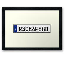 Euro Plate - RACE4FOOD Framed Print