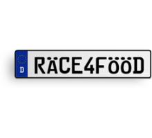 Euro Plate - RACE4FOOD Canvas Print