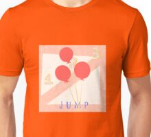 1, 2, 3 JUMP, pink background Unisex T-Shirt