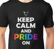 Keep calm and pride on Unisex T-Shirt