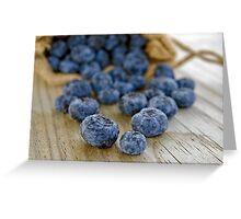 Blueberry Macro Greeting Card