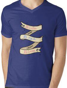 Girls Chase Boys Ribbon Mens V-Neck T-Shirt
